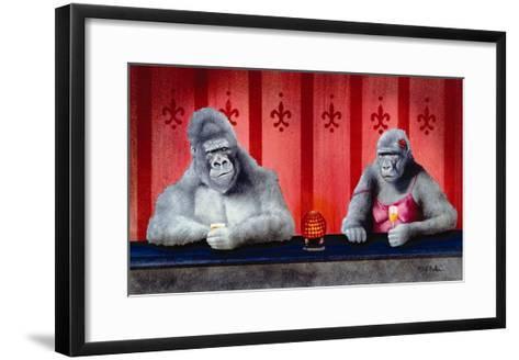Goin Ape Down at the Monkey Bars-Will Bullas-Framed Art Print