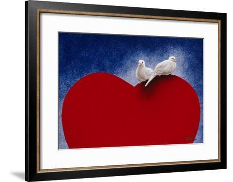 Lovey Dovey-Will Bullas-Framed Art Print