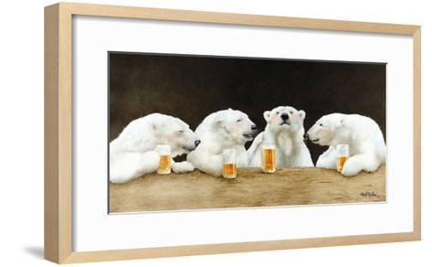 Polar Beers-Will Bullas-Framed Art Print