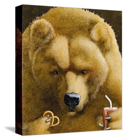 Pretzels & Soda & Bear-Will Bullas-Stretched Canvas Print