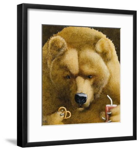 Pretzels & Soda & Bear-Will Bullas-Framed Art Print