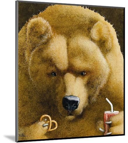 Pretzels & Soda & Bear-Will Bullas-Mounted Premium Giclee Print