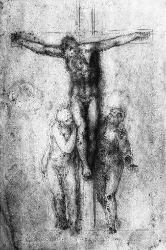 Crucifixion, British Museum, London-Michelangelo Buonarroti-Stretched Canvas Print