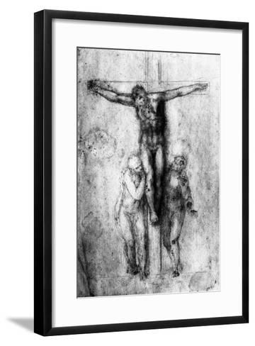 Crucifixion, British Museum, London-Michelangelo Buonarroti-Framed Art Print