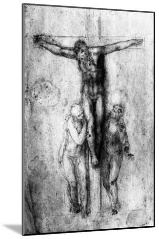 Crucifixion, British Museum, London-Michelangelo Buonarroti-Mounted Giclee Print