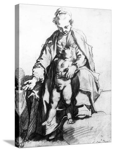 Drawing of a Woman with Child, the Uffizi Gallery-Francesco Vanni-Stretched Canvas Print