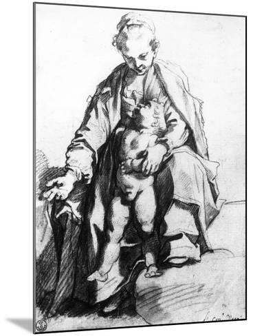 Drawing of a Woman with Child, the Uffizi Gallery-Francesco Vanni-Mounted Giclee Print