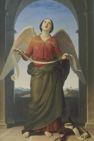 Sacred Music, Accademia Gallery, Florence-Luigi Mussini-Stretched Canvas Print