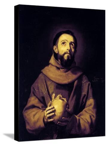 St. Francis, Palatine Gallery, Pitti Palace, Florence-Jusepe de Ribera-Stretched Canvas Print