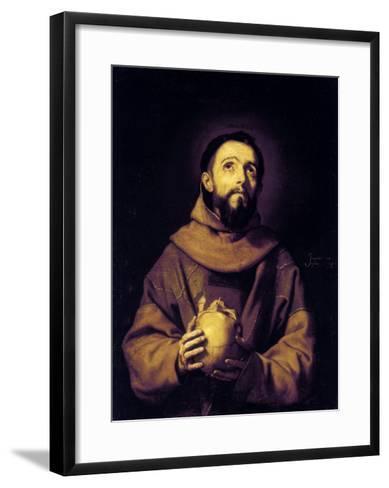 St. Francis, Palatine Gallery, Pitti Palace, Florence-Jusepe de Ribera-Framed Art Print