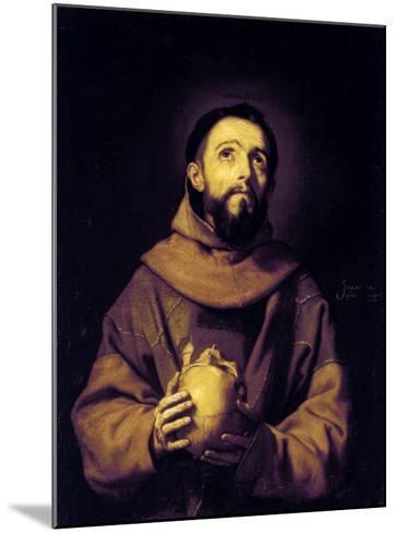 St. Francis, Palatine Gallery, Pitti Palace, Florence-Jusepe de Ribera-Mounted Giclee Print