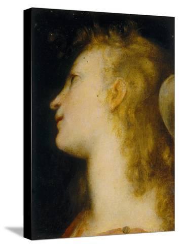 Angel's Head, Palatine Gallery, Palazzo Pitti, Florence-Federico Barocci-Stretched Canvas Print