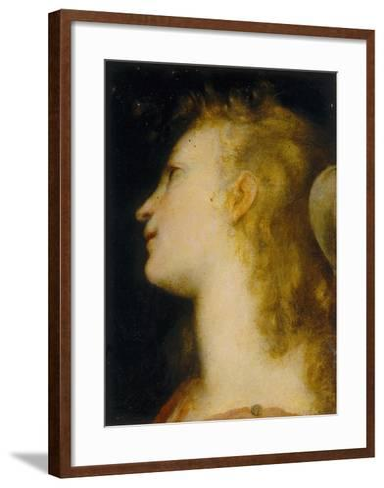 Angel's Head, Palatine Gallery, Palazzo Pitti, Florence-Federico Barocci-Framed Art Print