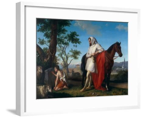 Cimabue and Giotto, Modern Art Gallery, Pitti Palace, Florence-Giuseppe Sabatelli-Framed Art Print