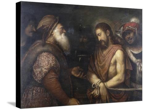 Christ Before Caiaphas, Conserved at the Galleria Estense in Modena-Niccolo Frangipane-Stretched Canvas Print