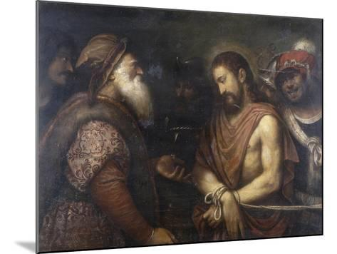 Christ Before Caiaphas, Conserved at the Galleria Estense in Modena-Niccolo Frangipane-Mounted Giclee Print