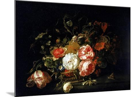 Basket of Flowers, Uffizi Gallery, Florence-Rachel Ruysch-Mounted Giclee Print