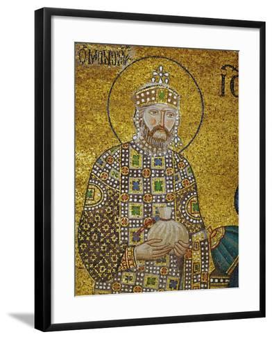 Emperor Constantine IX Monomachos (1042-1054) Holding the Money-Bag with the Church's Endowment--Framed Art Print
