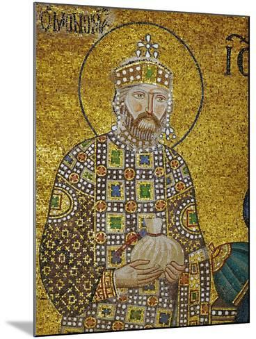 Emperor Constantine IX Monomachos (1042-1054) Holding the Money-Bag with the Church's Endowment--Mounted Giclee Print