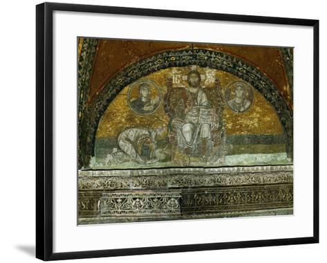 Christ Enthroned, Blessing--Framed Art Print