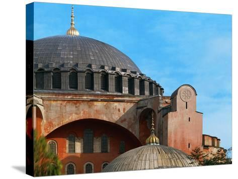 Hagia Sophia, Exterior, Detail of Dome, 6th Century--Stretched Canvas Print