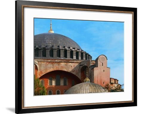 Hagia Sophia, Exterior, Detail of Dome, 6th Century--Framed Art Print