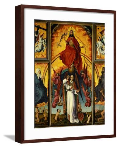 Altar of the Last Judgement-Rogier van der Weyden-Framed Art Print