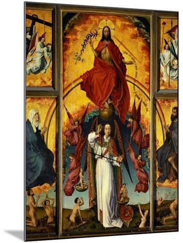 Altar of the Last Judgement-Rogier van der Weyden-Mounted Giclee Print