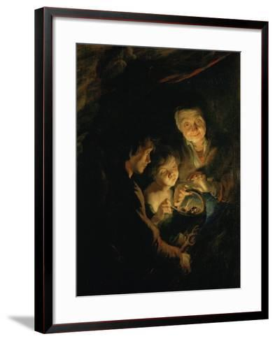 Old Woman with Brazier, circa 1618-1620-Peter Paul Rubens-Framed Art Print