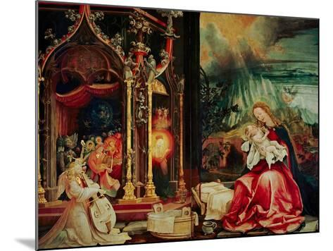 Concert of the Angels, the Madonna in Prayer, and Nativity, from the Isenheim Altarpiece, 1515-Matthias Gr?newald-Mounted Giclee Print