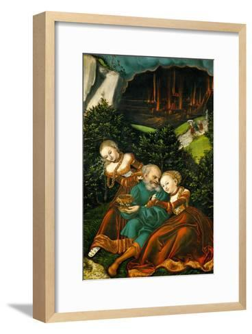 Lot and His Daughters, 1528-Lucas Cranach the Elder-Framed Art Print