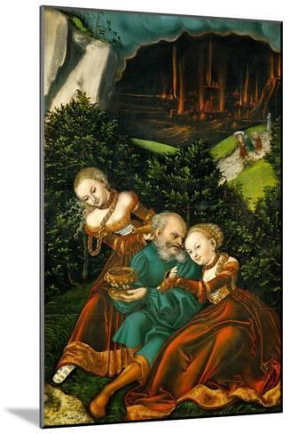 Lot and His Daughters, 1528-Lucas Cranach the Elder-Mounted Giclee Print