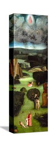 Adam and Eve, Expulsion from Paradise, Left Wing of the Triptych of the Last Judgment-Hieronymus Bosch-Stretched Canvas Print