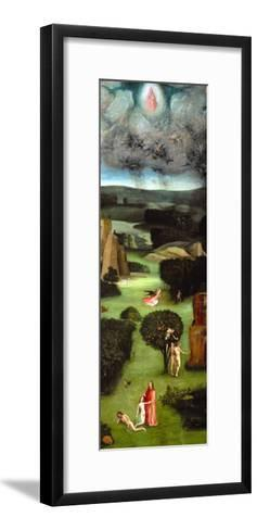 Adam and Eve, Expulsion from Paradise, Left Wing of the Triptych of the Last Judgment-Hieronymus Bosch-Framed Art Print