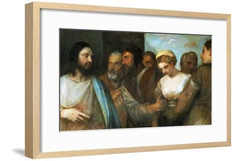 Christ and the Adultress; Unfinished, 1512-1515-Titian (Tiziano Vecelli)-Framed Art Print