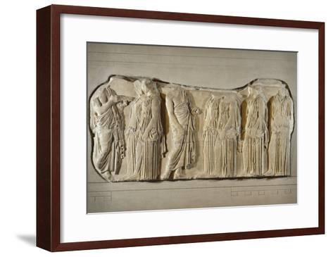 Fragment of the Frieze of the Panatheneans: The Ergastine--Framed Art Print