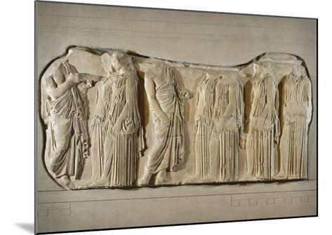 Fragment of the Frieze of the Panatheneans: The Ergastine--Mounted Giclee Print
