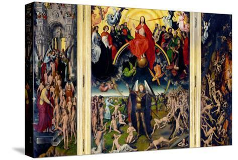 Weighing of the Souls, Triptych of the Last Judgment-Hans Memling-Stretched Canvas Print