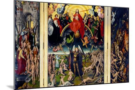 Weighing of the Souls, Triptych of the Last Judgment-Hans Memling-Mounted Giclee Print
