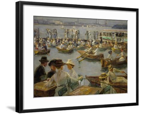 On the Shores of the Alster, Hamburg, 1910-Max Liebermann-Framed Art Print