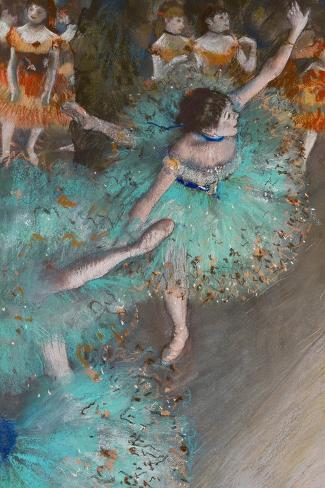 Green Dancer, circa 1880-Edgar Degas-Stretched Canvas Print