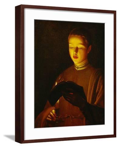 A Young Singer, circa 1645-1650-Georges de La Tour-Framed Art Print