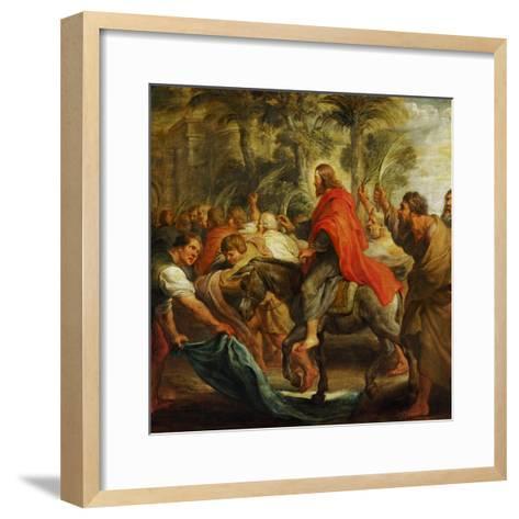 Christ's Entry into Jerusalem, 1632-Peter Paul Rubens-Framed Art Print