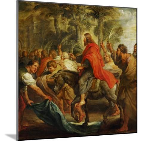Christ's Entry into Jerusalem, 1632-Peter Paul Rubens-Mounted Giclee Print