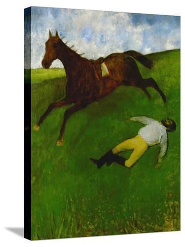 The Fallen Jockey, 1896-1898-Edgar Degas-Stretched Canvas Print