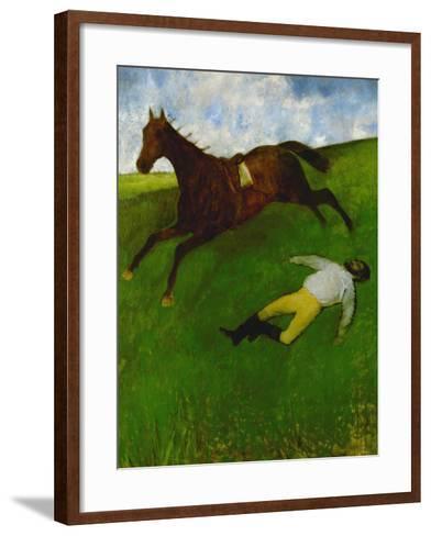 The Fallen Jockey, 1896-1898-Edgar Degas-Framed Art Print