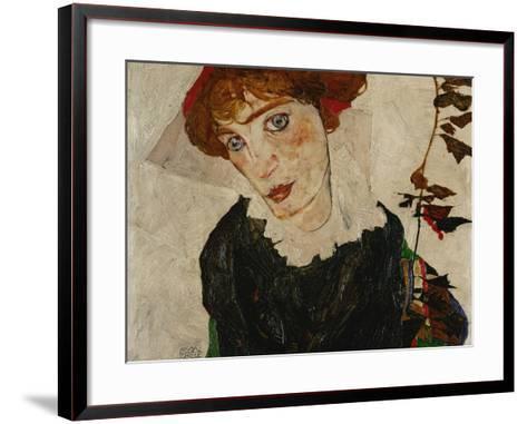 Portrait of Wally, 1912-Egon Schiele-Framed Art Print