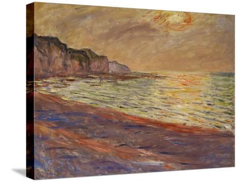 Beach at Pourville, Sunset, 1882-Claude Monet-Stretched Canvas Print