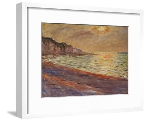 Beach at Pourville, Sunset, 1882-Claude Monet-Framed Art Print