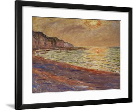 Beach at Pourville, Sunset, 1882-Claude Monet-Framed Art Print